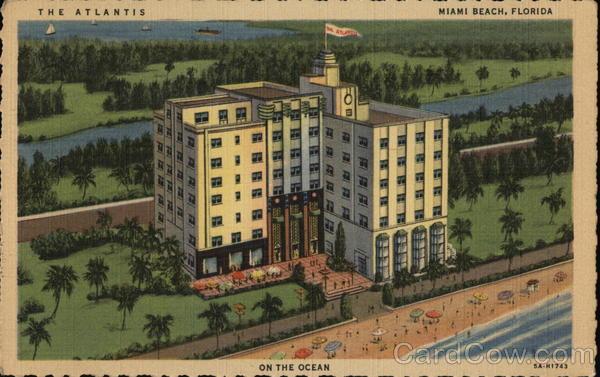 The Atlantis Hotel Miami Beach Fl Postcard