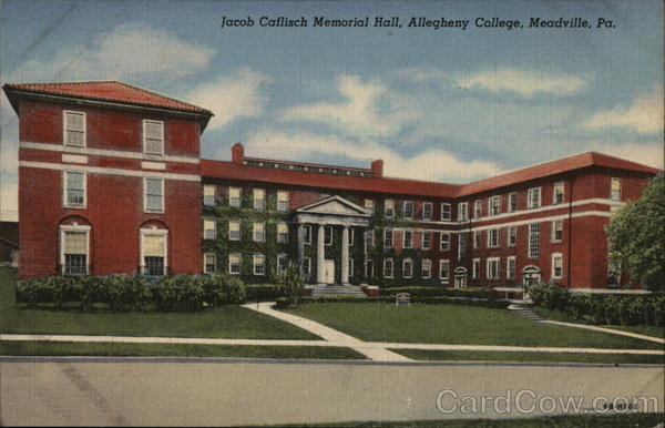 Jacob Caflisch Memorial Hall, Allegheny College Meadville Pennsylvania
