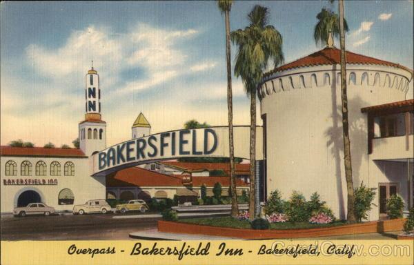 Overpass bakersfield inn postcard T shirt outlet bakersfield ca