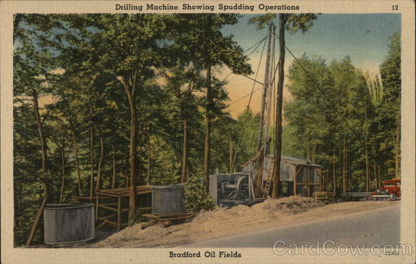 Wyborg Lease, Bradford Oil Field Derrick City Pennsylvania
