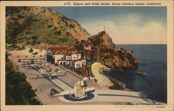 Airport and Orilla Jardin Santa Catalina Island California