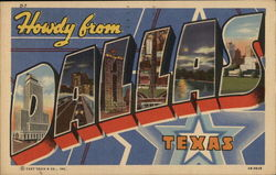 Howdy from Dallas,Texas Postcard