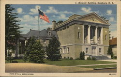 Masonic Building Postcard