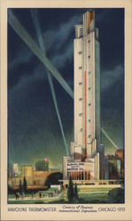 Havoline Thermometer Century of Progress International Exposition Chicago 1933 Postcard