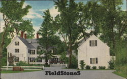 FieldstoneS by Sally Bodwell, on Highway 28 Postcard