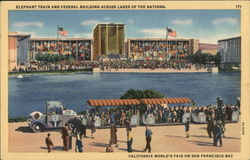 Elephant Train and Federal Building across Lakes of the Nations