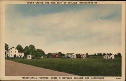 Cook's Cabins. One Mile East of Carlisle Interchange of Pennsylvania Turnpike