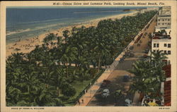 Ocean Drive and Lummus Park, Looking South