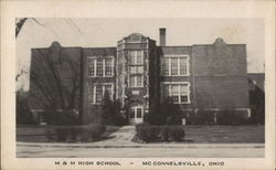 M & M High School Postcard