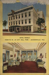 Hotel Windle, Forsyth St. at City Hall Park Postcard