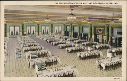 The Dining Room, Culver Military Academy Postcard