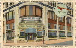 The Golden Pheasant, San Francisco's Most Favorably Known Restaurant