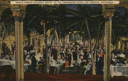 """World Famous Cocoanut Grove"" at the Ambassador Hotel Postcard"