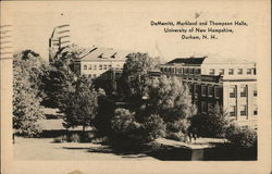 DeMerritt, Murkland and Thompson Halls Postcard