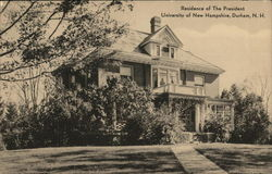 Residence of the President, University of New Hampshire Postcard
