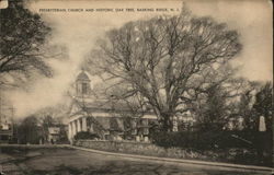 Presbyterian Church and Historic Oak Tree
