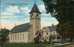 Catholic Church and Parsonage Postcard