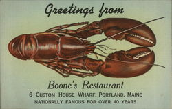 Greetings from Boone's Restaurant