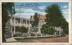 St. Alban's Hotel, Corner Church and Pearl Sts. Postcard