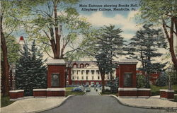 Main Entrance Showing Brooks Hall, Allegheny College