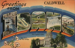 Greetings from Caldwell, Idaho Postcard