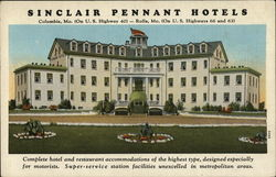 Sinclair Pennant Hotels Postcard