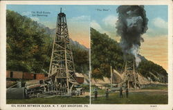 Oil Scene Between Olean, NY and Bradford, PA