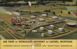 Air View of Petroleum Refinery