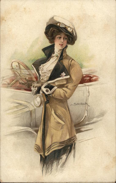 Well-Dressed Woman Carrying Book Near Automobile Women