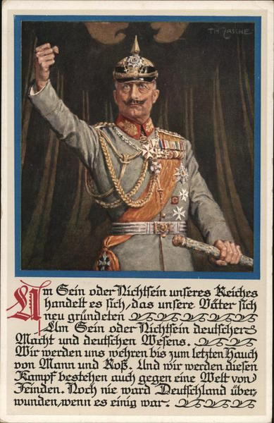 Kaiser Wilhelm II World War I