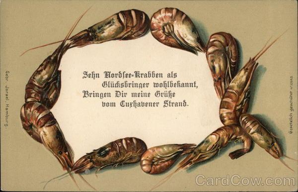 Sehn Hordfee-Krabben als Gludisbringer wohlbekannt