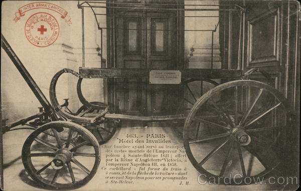 Hotel des Invalides - Napoleon Funeral Carriage Paris France