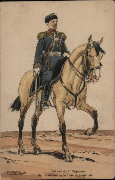 Colonel on Horse Military