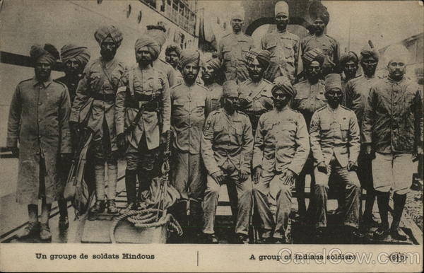 A Group of Indian Soldiers Military