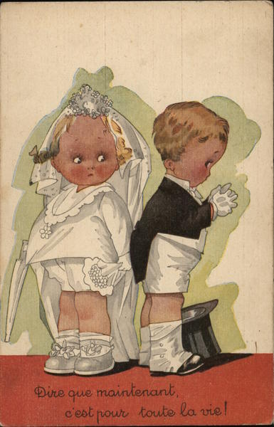 French: Little Bride and Groom Marriage & Wedding