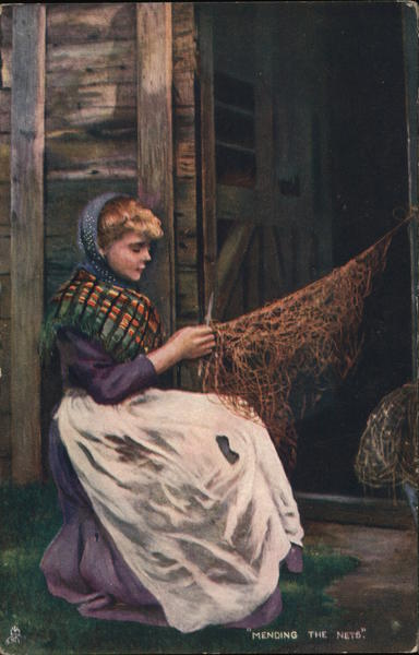 Mending the Nets Hand Drawn