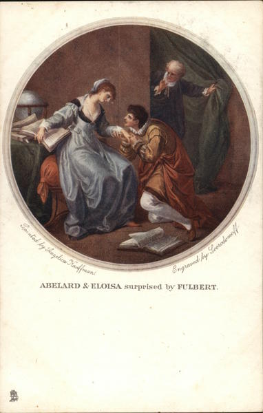 Abelard & Eloisa Surprised by Fulbert Tuck's Oilette Series