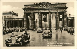 1938 Olympiad. The Fuhrer on the way to the opening of the Olympic games