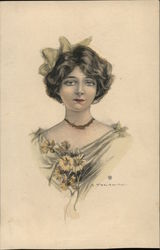 Portrait of a young woman Postcard
