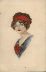 Woman with a Red Headband Postcard