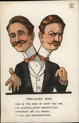 Man with Two Heads, Two Necks, Two Bow Ties