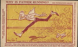Why is father running?