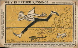 Why is father running? See instructions below.