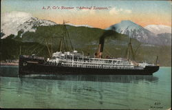 "A.P. Co's Steamer, ""Admiral Sampson"""