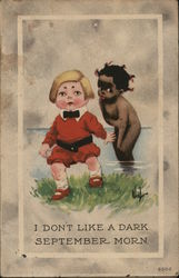 I don't like a dark September morn - White and black children