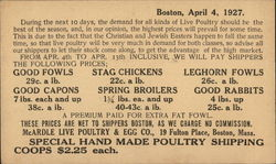 Print Ad - Boston, April 4, 1927