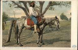 U. S. Government Indian Scout on Horseback, Fort Apache, AZ