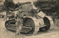 French Soldier and Tank