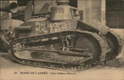 French Renault armored tank
