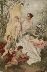 Woman with babies